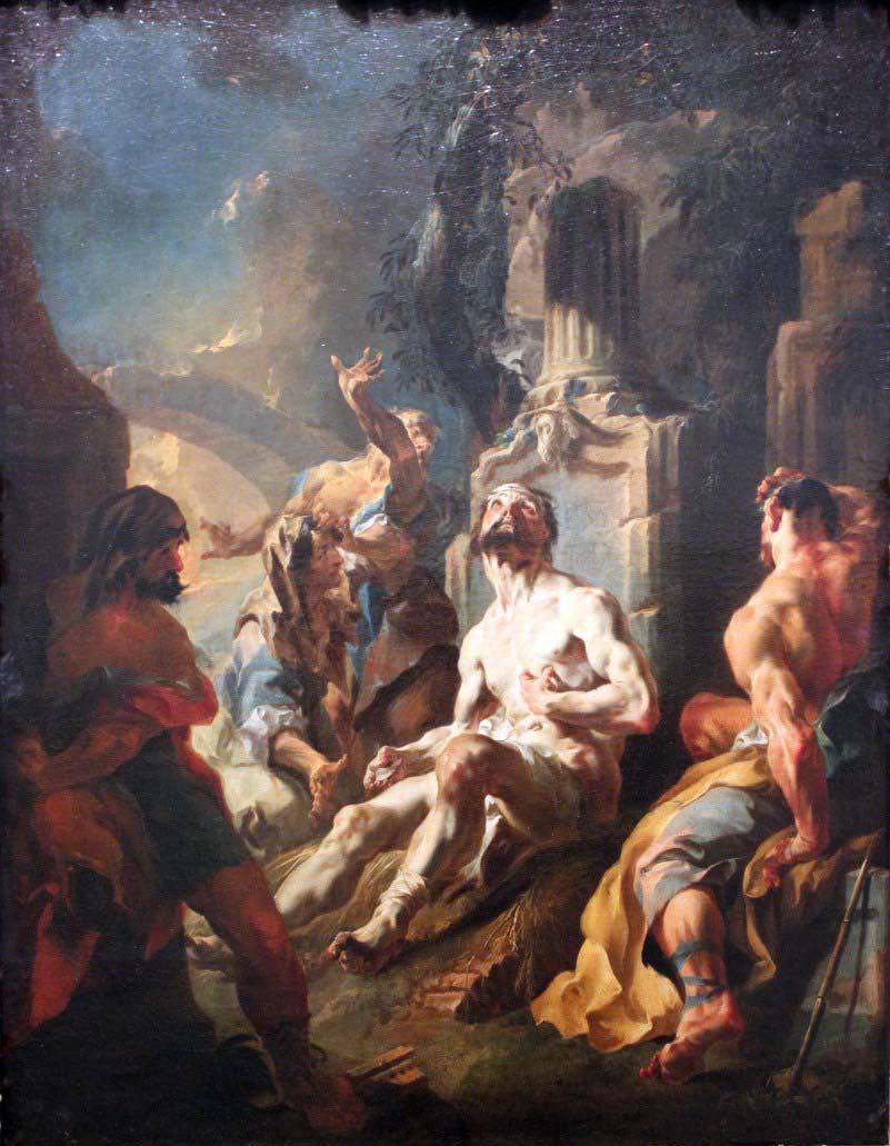 """""""Job on the Dung Heap"""" Johann Baptist Wenzl Bergl (1718-1789)"""