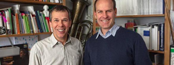 Church musicians. SELK Kantor Thomas Nickisch und Hauptleiter des Sängerchorverbands der FELSISA, Bernhard Böhmer